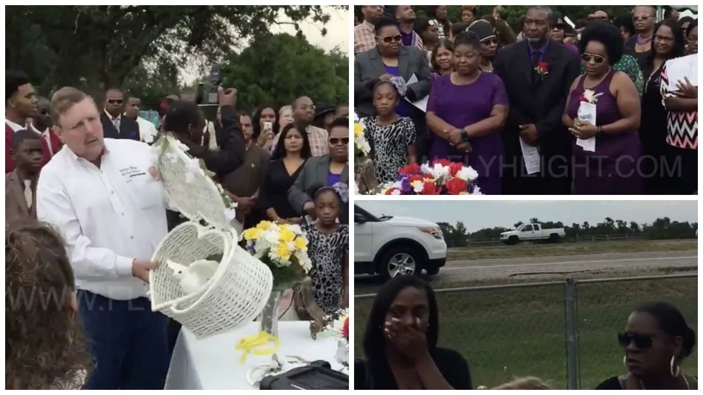 Pastor releases doves at funeral only for them to be smashed by truck in front of horrified mourners (photos, video)