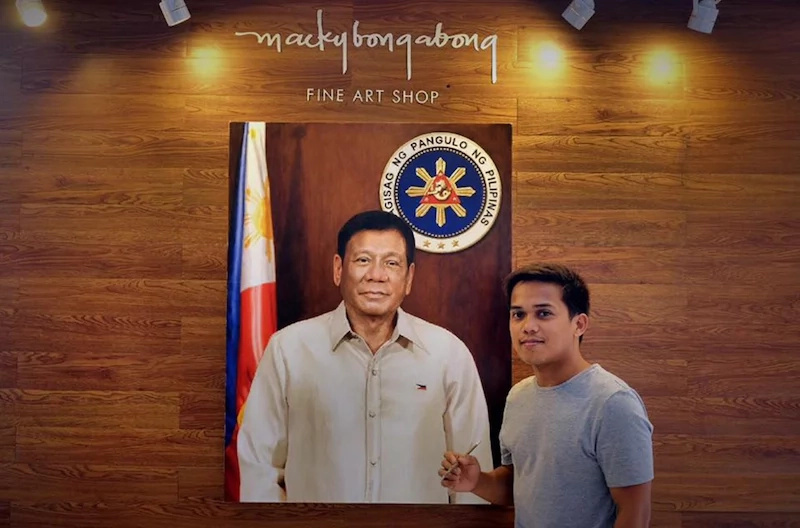 Fisherman's son amazing painting made it to the Malacanang Palace