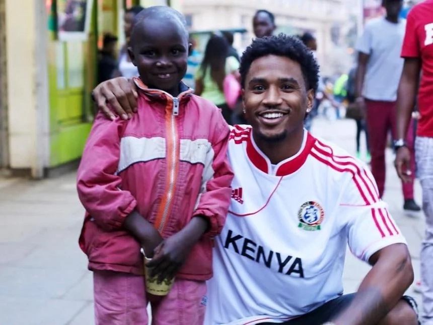 Trey Songz heartwarming gesture to Kenyan street boy