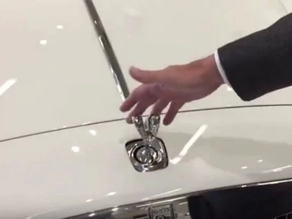 This is what happens if you try to steal a Rolls Royce hood ornament...