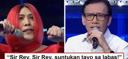 Nagpakalalake siya! Vice Ganda challenges Rey Valera to a fistfight when veteran singer asks him 'hugot' questions about exes