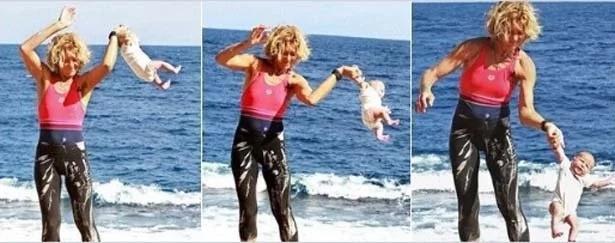 """""""Yoga balanceando un bebé"""", un video que impacta a los internautas"""