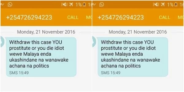 Politician calls MP 'prostitute' in a text message