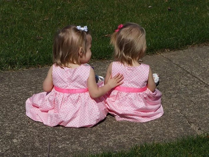 These twins were born holding hands and they are 2 years old!