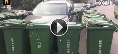 This car was parked illegally and the street cleaner took his revenge by doing THIS to the car