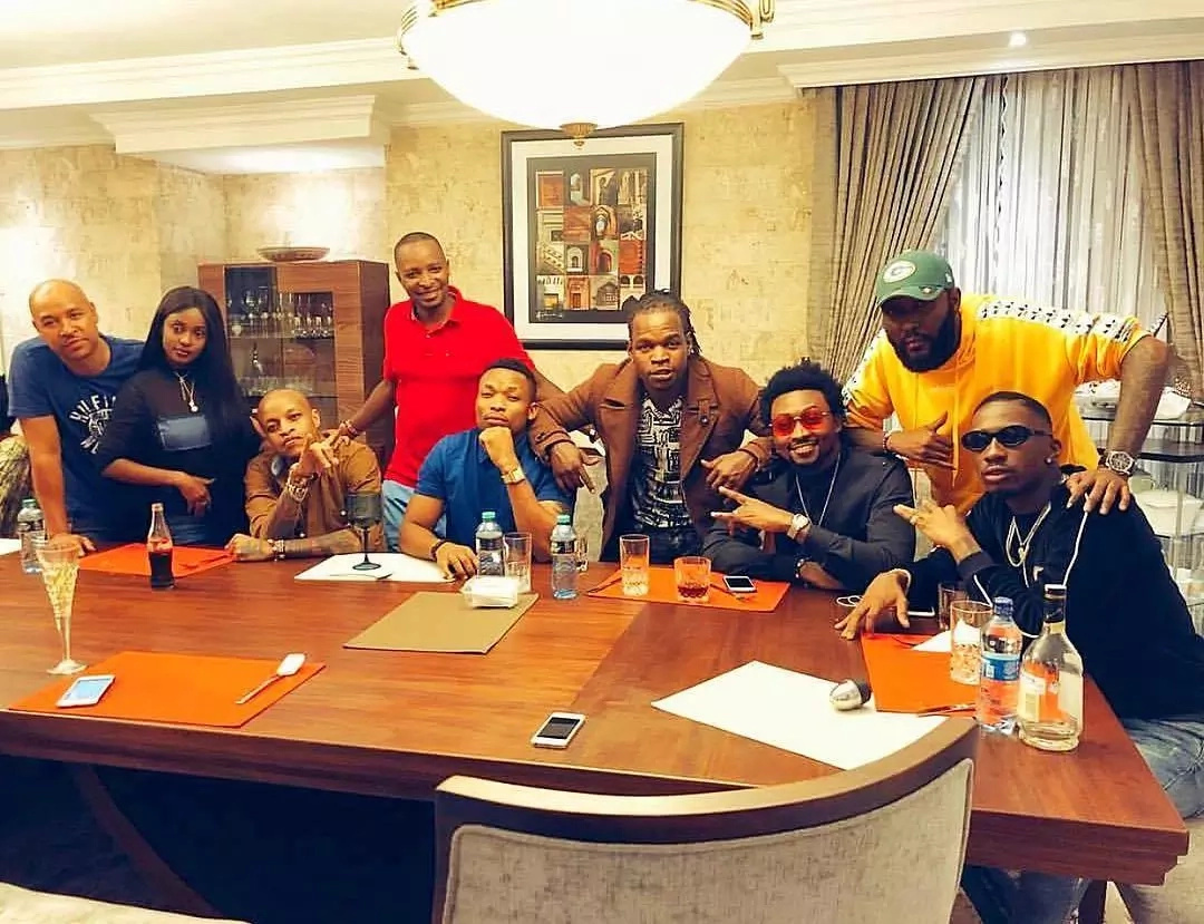 Timmy T Dat and Otile Brown exchanging blows at Vanessa Mdee's private party