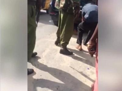 Mwanamume azua kioja Mombasa akihofia kupigwa risasi na polisi! (video)