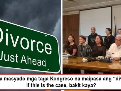 Okay na okay sila sa hiwalayan! House panel approves divorce bill, aims to speed up process of dissolving marriage