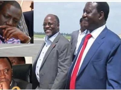 Magufuli will allow Kenyans into Tanzania if I become president- Raila