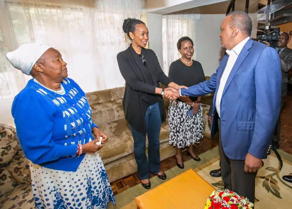 Uhuru visits late William Ole Ntimama's home
