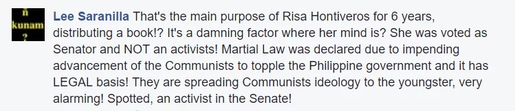 Marcos loyalists react on Risa Hontiveros' distribution of books