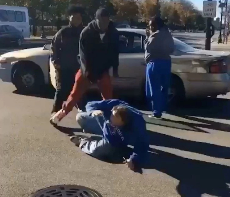 Old Man Gets Beaten Up In Broad Daylight For Voting Trump