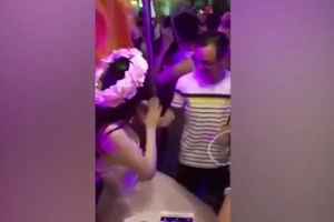 'Bride' Who Was Filmed Letting Men Touch Her Boobs Is Revealed To Be A Thai Transsexual