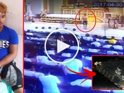 Himala sa Taguig! This violent man used his large knife to attack a priest during a Holy Mass but he survived because of his Bible!