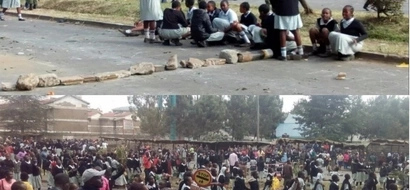 CS Matiang'i should see this: Primary school kids bring Jogoo road to a halt