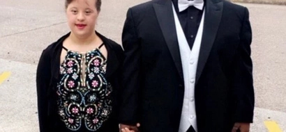 So sweet! Couple with Down's syndrome attend prom – internet immediately falls in love with them (photos)