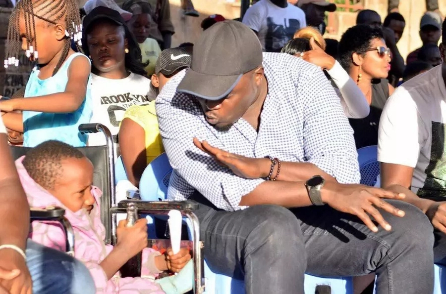 Photos of boys wheeling teir disabled friend to a football match has melted hearts including Jubilee senator Sakaja