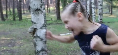 This Little Girl Can Chop Down Trees With Punches!