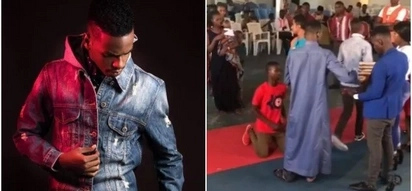 Tanzania's self-proclaimed rich prophet sparks debates online after asking worshipers to kneel before him for money