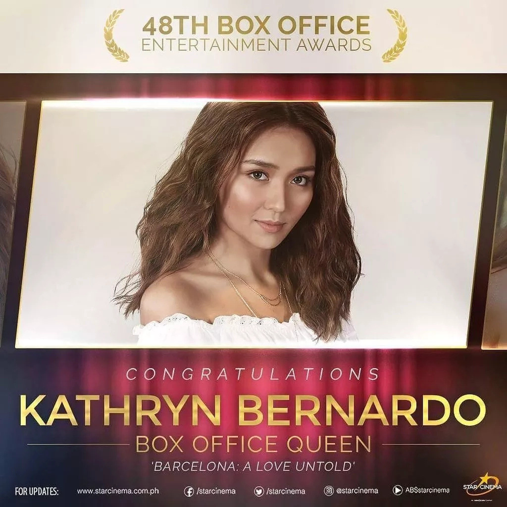 Kathryn Bernardo is 'The Box-Office Queen'! Can't Help Falling In Love, Certified box office hit!