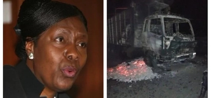 Governor Ngilu on the spot for ordering residents to burn any trucks ferrying charcoal out of Kitui, details