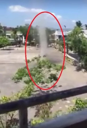 Mysterious 'Dust Devil' spotted in Albay