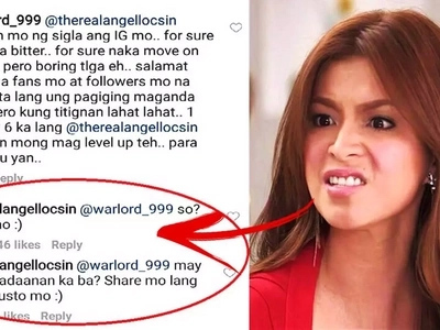 Ang bastos kasi! Angel Locsin engages in shocking word war with her basher on Instagram!