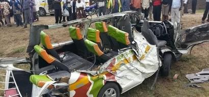 Jamaa wawili waponea kifo katika AJALI mbaya ya barabarani, soma ujumbe wa mmoja (picha)