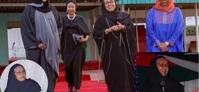 Mkewe Rais Uhuru - Margaret Kenyatta - apendeza kweli kweli akivalia bui bui (picha)