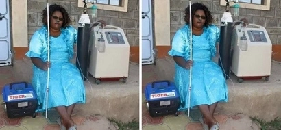 A chokoraa boy meets a sick woman who walks around with a generator and oxygen cylinders... what happens leaves everyone stunned (photos)