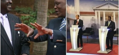 Where Uhuru was as the debate was going on(photos)
