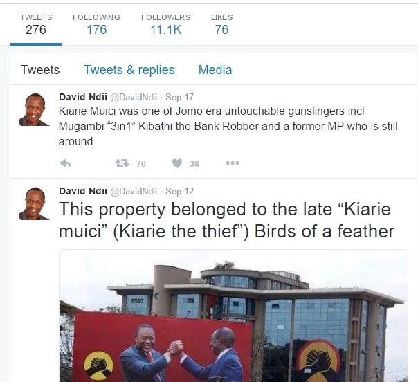 Jubilee headquarters belonged to a thug, David Ndii