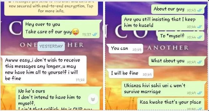 Kenyan woman surrenders her husband to a Mpango Wa Kando through WhatsApp