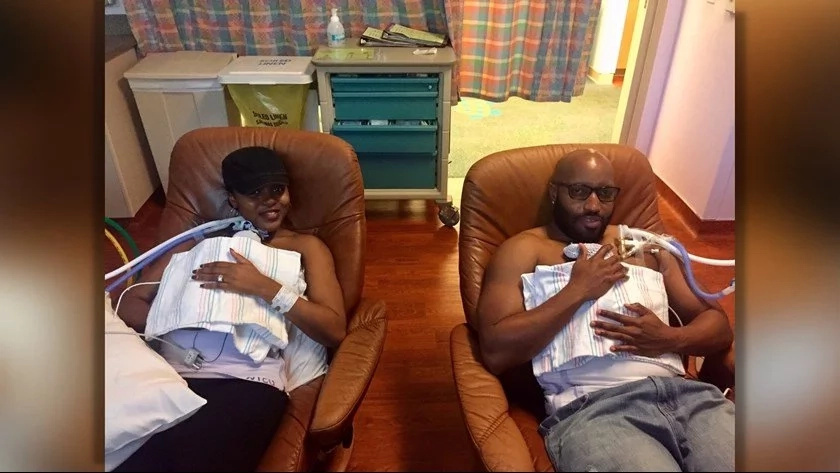 Miracle as woman gives birth TWICE in two weeks to twins (photos, video)
