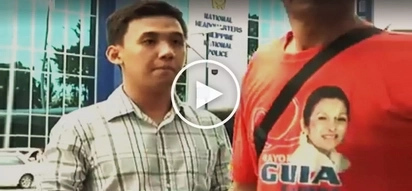 Intense Filipino reporter gets upset as insensitive pedestrian disrupts his live report