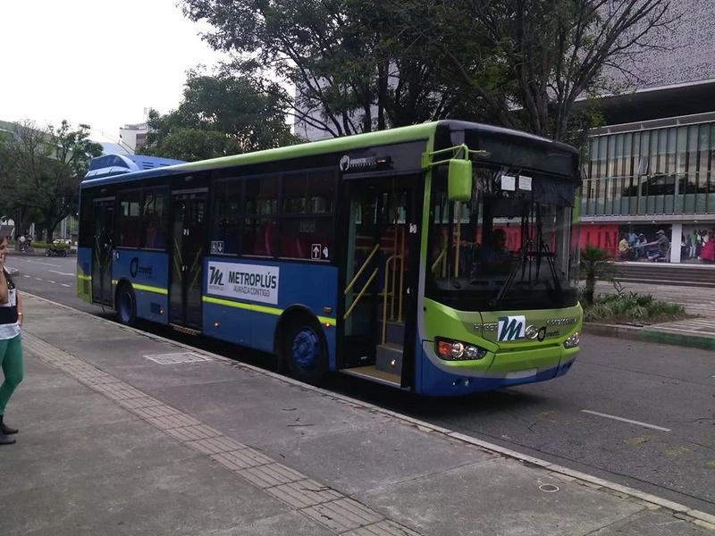 Medellín tendrá buses eléctricos en el Metroplús