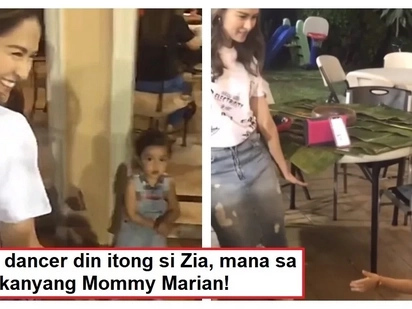 Dance showdown ng mag-ina! Video of Marian Rivera and Zia Dantes showing their dance grooves went viral