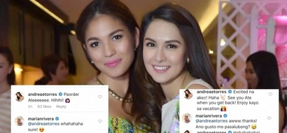 So echos lang ang 'snub' incident? NO RIFT between Marian Rivera and Andrea Torres as they exchange sweet messages on Instagram