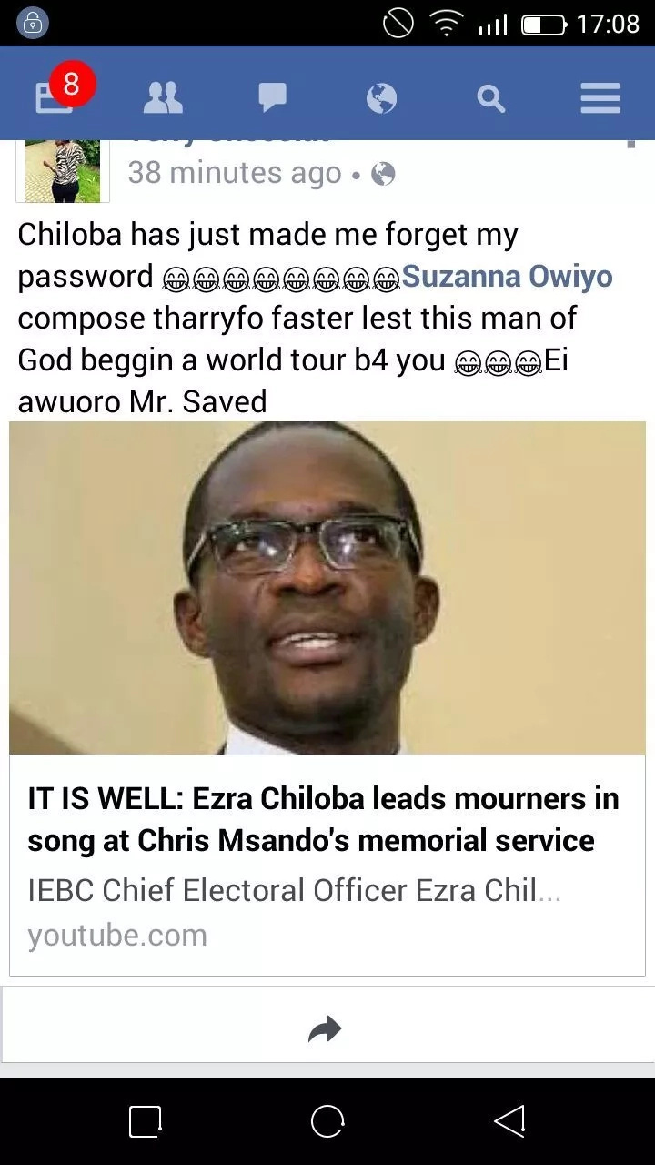 Ezra Chiloba stuns Kenyan ladies yet again during requiem mass of Chris Msando