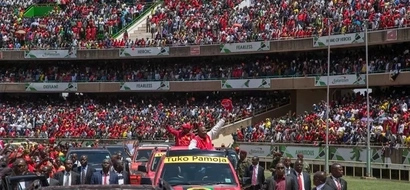 Uhuru Kenyatta traces the root of his name at the launch of Jubilee party