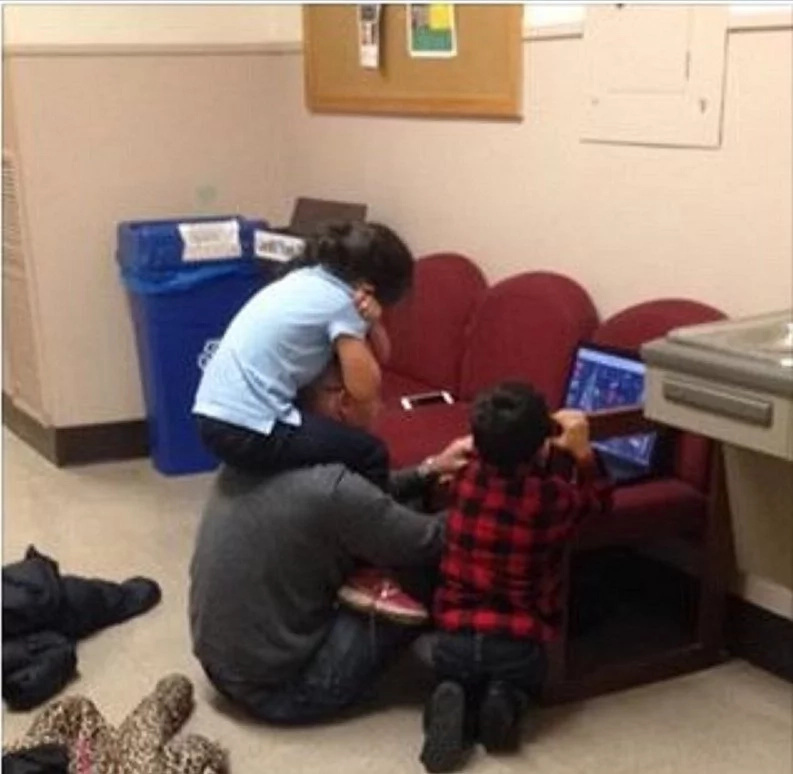 Professor does something amazing for a woman's children while she writes an exam