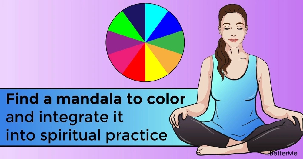 Find a mandala to color and integrate it into spiritual practice