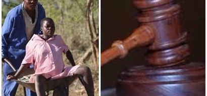 Man dragged to court for taking his pregnant wife back to her parents on wheelbarrow at night