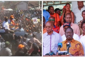 ODM politicians fight in front of Raila Odinga as planned