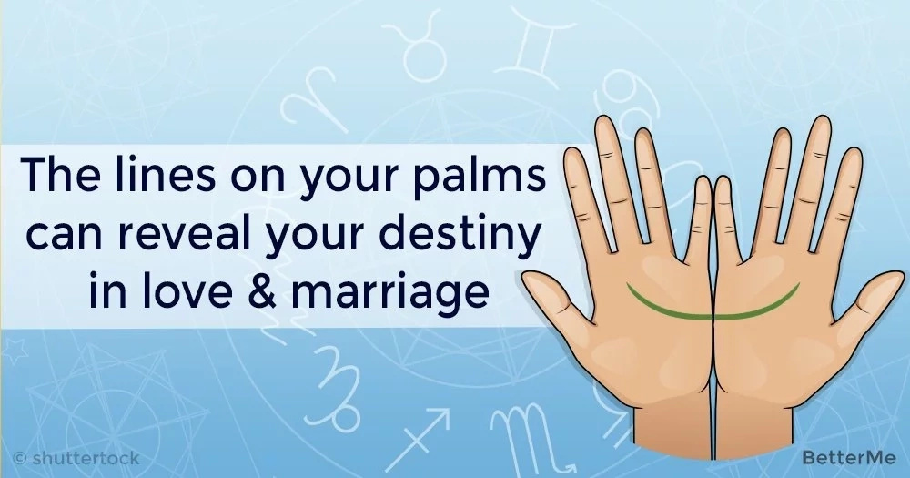 The lines on your palms can reveal your destiny in love & marriage