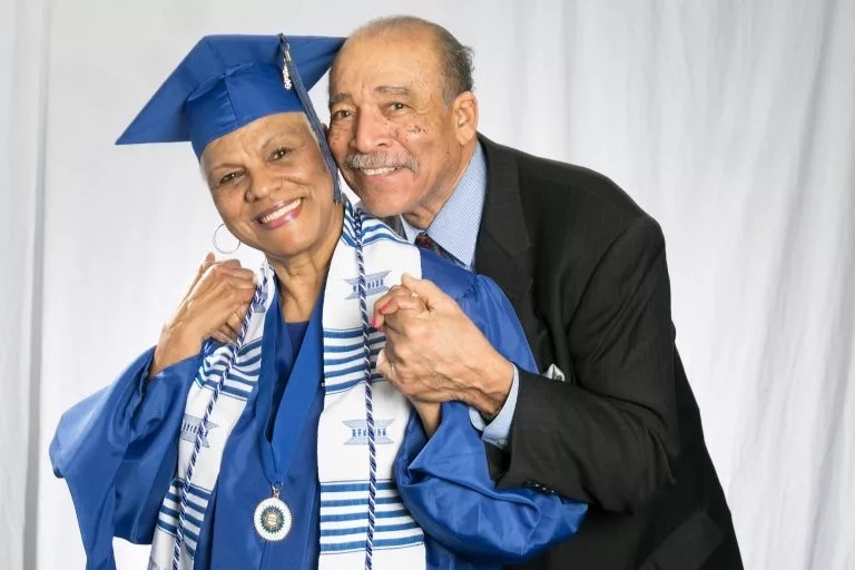 Darlene and her husband of 54 years, John Mullins. Photo: Tennessee State University