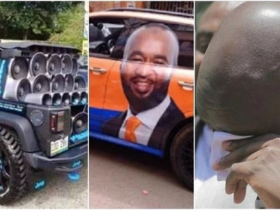 Joho campaigning with a car that Kenyans categories as their dream car(photos)