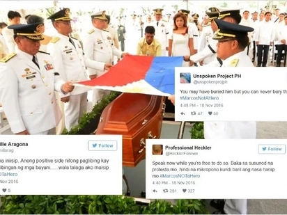Hinding hindi malilimutan! Devastated netizens express disgust over hero burial of Marcos