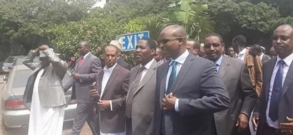 In Photos:Garissa Governor Grand Entry At Anti-Corruption Commission Offices