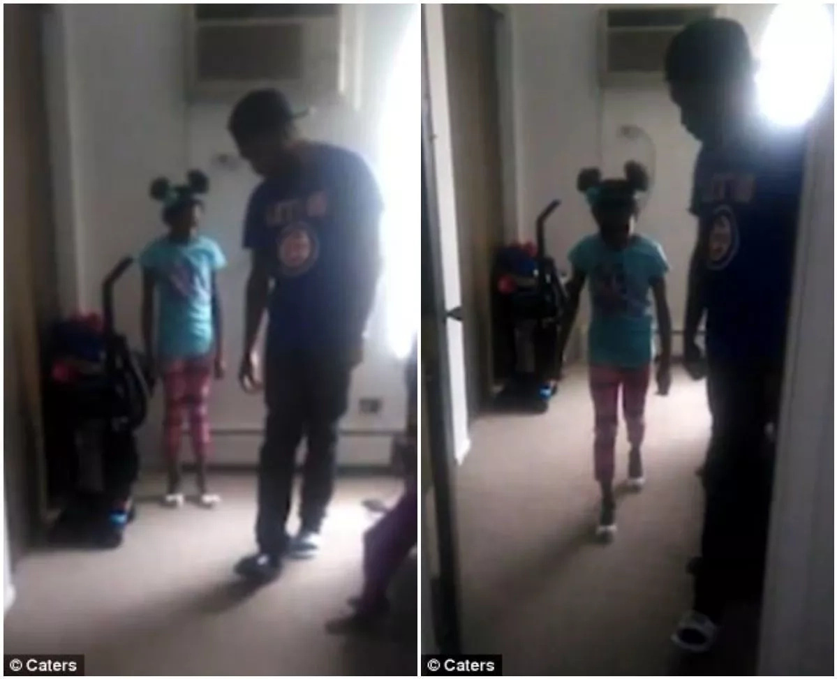 See how dad coaches daughter, 6, how to walk in high heels (photos, video)